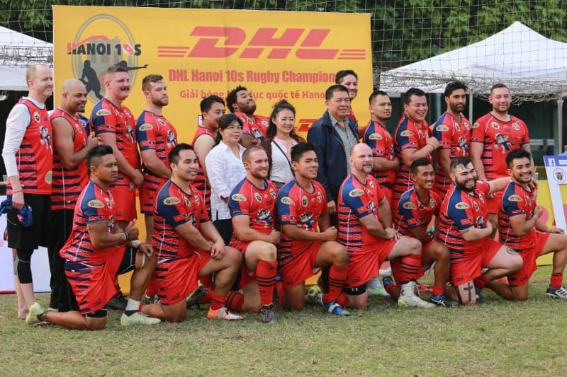 Hanoi rugby 10s 2019 Cup winners - DAC Weredragons