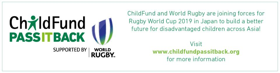 ChildFund Pass It Back & Rugby World Cup 2019