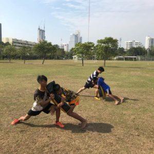 Nak Suu Rugby tackling