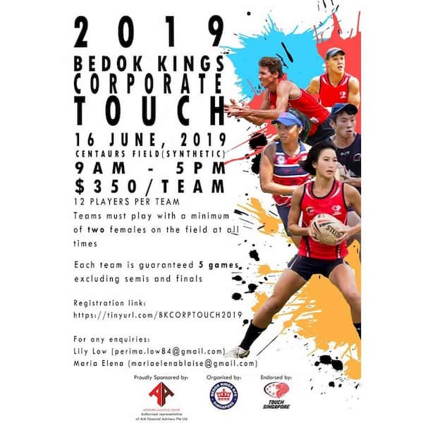Bedok Kings RFC Corporate Touch tournament 2019