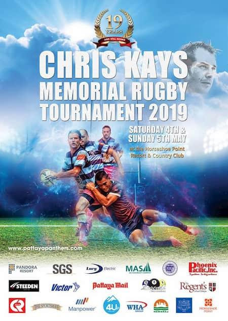 Chris Kays Pattaya Tens 2019 rugby tournament