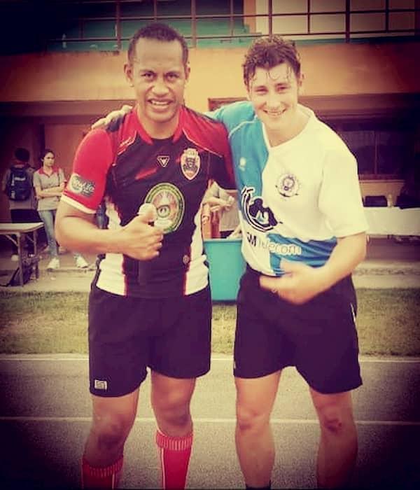 Lonny (Chang Rai Bears) and Thomas Stubley (Lanna Rugby)