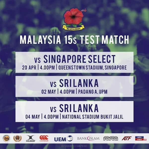 Malaysia Rugby Union XVs test matches 2019