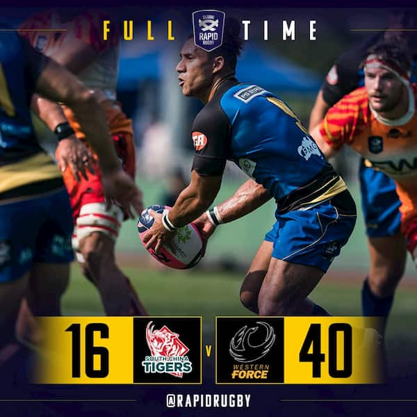 South China Tigers versus Western Force result GRR 2019