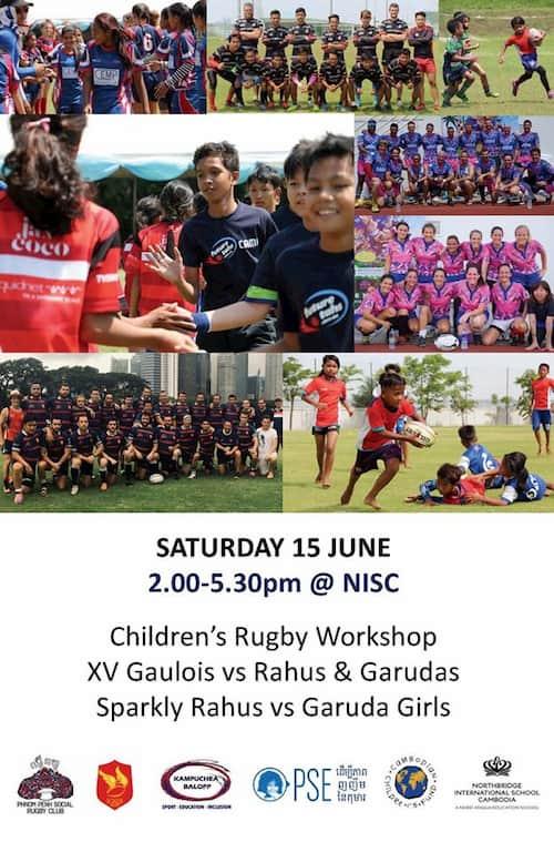 Kampuchea Balopp Children's Day rugby June 2019