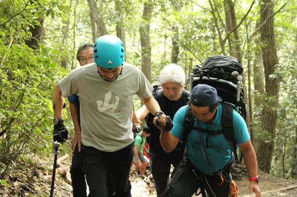 Hideyuki Sugita on a test run of Mt Takao in 2018