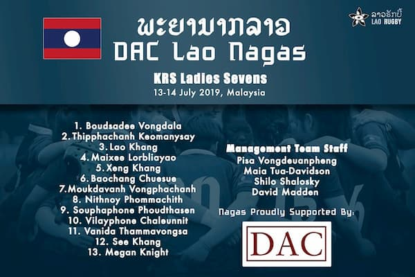 Lao Nagas ladies 7s rugby
