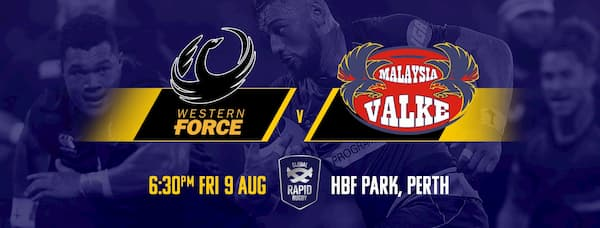 Global Rapid Rugby Western Force vs Malaysian Valke