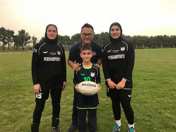 Ridzal Saat World Rugby Services Manager for Asia visiting Iran