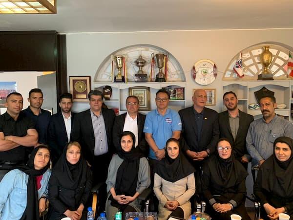 Ridzal Saat meeting with Iran Rugby