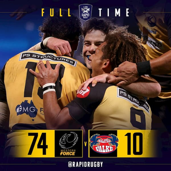 Rapid Rugby Western Force beat Malaysia Valke 2019