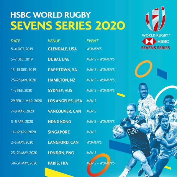 HSBC World Rugby Sevens 2020 schedule