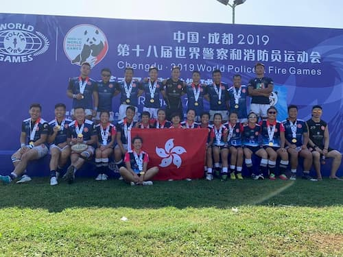 Hong Kong 2019 World Police and Fire Games Rugby 7s champions 2019