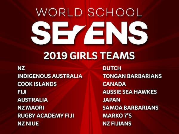 World Schools Sevens Teams 2019 Girls