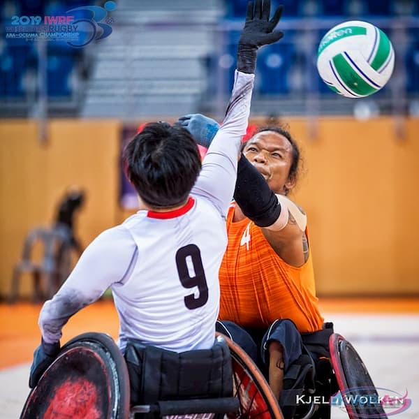 2019 IWRF Asia-Oceania Wheelchair Rugby Championships action