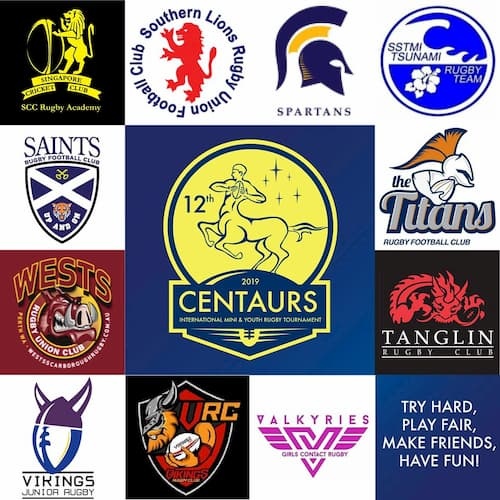 Centaurs Mini and Youth International rugby festival 2019 clubs