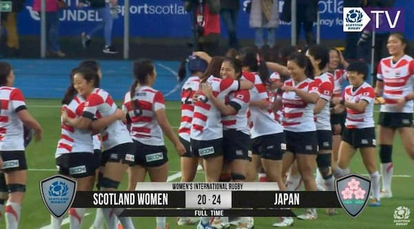 Japan Sakura ladies beat Scotland Rugby 2019