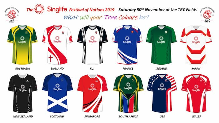 Singapore Life Festival of Nations 2019 rugby kit