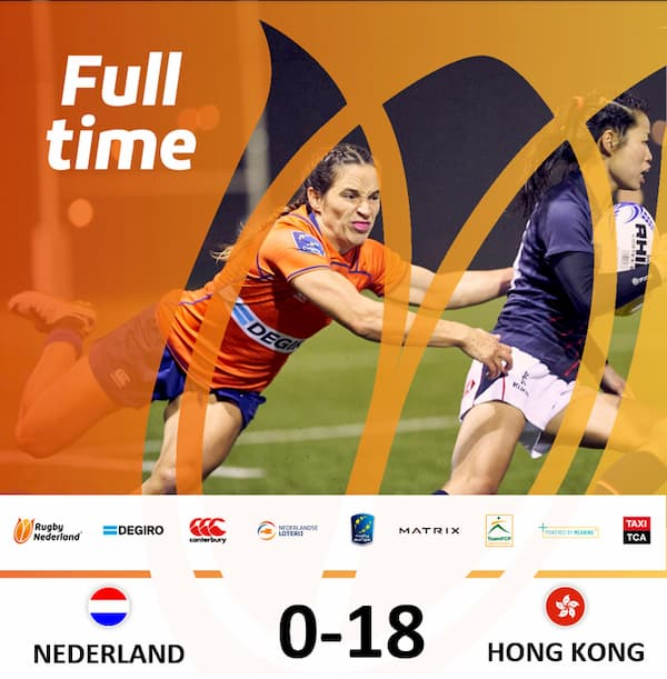 HK women's rugby result in Holland 2019