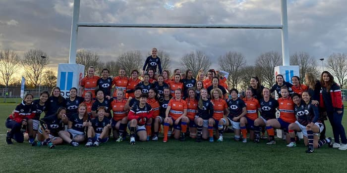 Hong Kong and Netherlands women's 15s rugby teams 2019